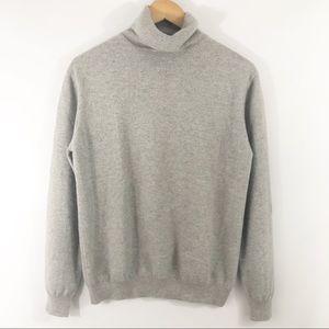 KIRKLAND large gray 100% cashmere turtleneck